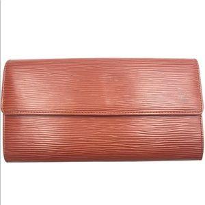 Louis Vuitton Epi Long Wallet 💯Authentic
